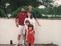 Chuck and His Children, Matt, Michelle, Danielle, and Lyn