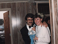 Chuck and Miss Mary's Wedding Day, Dec. 17, 1984