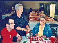 Chuck, Matt, B.J. Warwick, and Miss Mary at a Dinner at the Starke Golf and Country Club